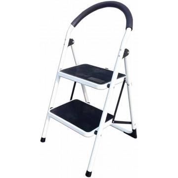 2-Step Foldable Steel Ladder w/Grip LY602