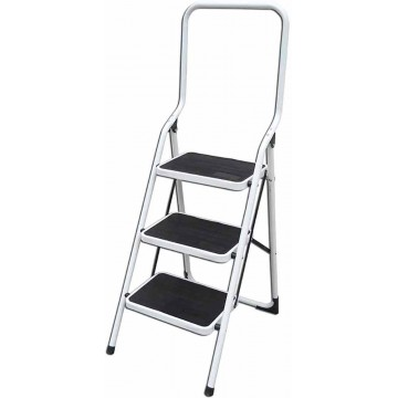 3-Step Foldable Steel Ladder w/High Handle LY503