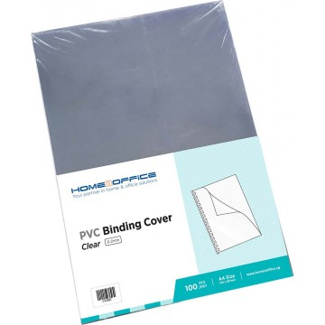 HnO PVC Binding Cover 0.18mm A4 100'S Clear