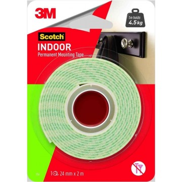 3M Scotch Indoor Permanent Mounting Tape (24mm x 2m)