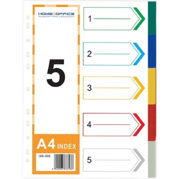 HnO PP Index Divider (5 Colour) A4