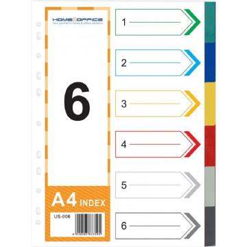 HnO PP Index Divider (6 Colour) A4