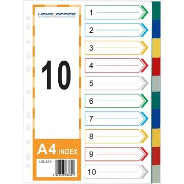 HnO PP Index Divider (10 Colour) A4