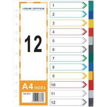 HnO PP Index Divider (12 Colour) A4