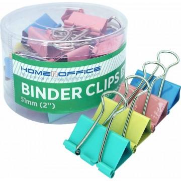 "HnO Colour Binder Clip (51mm, 2"") 12'S"