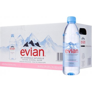 Evian Mineral Water 24'S 500ml