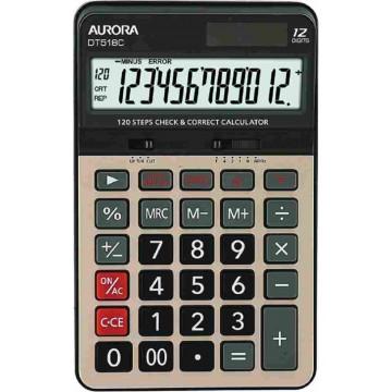 Aurora Check Calculator (176 x 112 x 32mm) DT518C 12 Digits