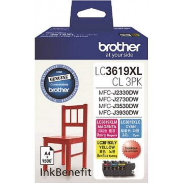 Brother Ink Cartridge (LC3619CL-3PK) Colour