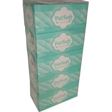 PurSoft Professional 2-Ply Facial Tissue Box (40 Boxes) 200 Sheets