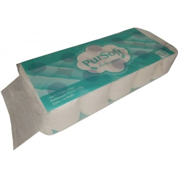 PurSoft Professional 2-Ply Toilet Tissue Roll (100 Rolls) 220 Sheets