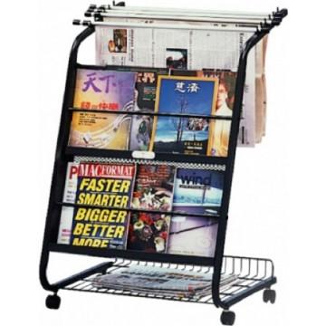 Newspaper & Magazine Rack w/6-Hanger (49 x 65 x 100cm)