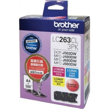 Brother Ink Cartridge (LC263CL-3PK) Colour