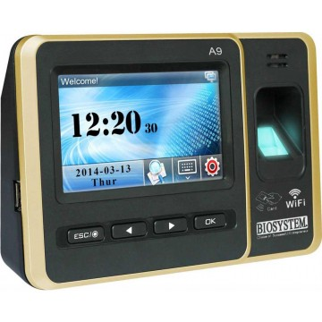 Biosystem Touch-Screen Finger Scan Time Attendance System A9 - With Installation