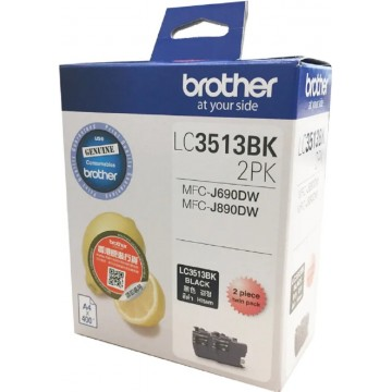 Brother Ink Cartridge (LC3513BK-2PK) Black