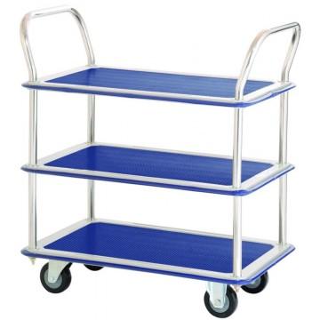 3-Tier Double-Handle Trolley Cart (765 x 485 x 860mm) 220kg