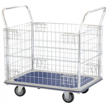 Double-Handle Trolley Cart w/Mesh Basket (970 x 615 x 950mm) 370kg
