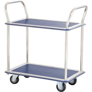 2-Tier Double-Handle Trolley Cart (965 x 615 x 950mm) 370kg