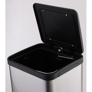 Stainless Steel Waste Bin w/Pedal (26.0 x 25.5 x 49.5cm) 15L