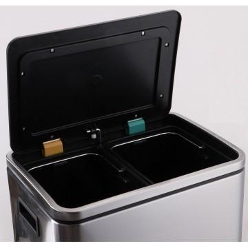 Stainless Steel Waste Bin w/Pedal (40.0 x 33.0 x 52.0cm) 30L