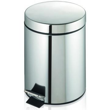 Round Stainless Steel Waste Bin w/Pedal (25.2 x 39.0cm) 12L