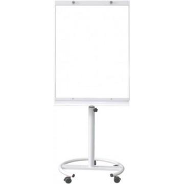 Magnetic Flip Chart Whiteboard (60 x 90cm) Castor Wheel - White Frame