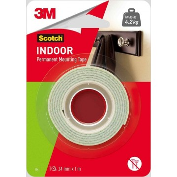 3M Scotch Indoor Permanent Mounting Tape (24mm x 1m)