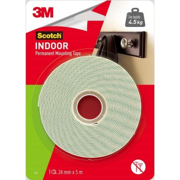 3M Scotch Indoor Permanent Mounting Tape (24mm x 5m)