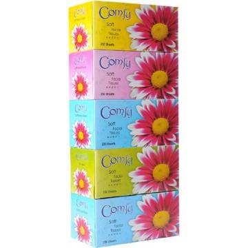 Comfy 2-Ply Soft Facial Tissue Box (50 Boxes) 200 Sheets