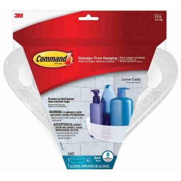 3M Command Damage-Free Hanging Bathroom Corner Caddy 3kg
