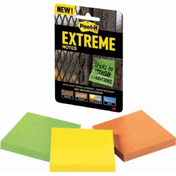 """3M Post-it Extreme Notes (3"""" x 3"""") 3'S Water-Resistant"""