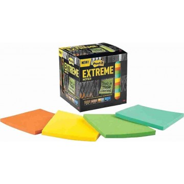 """3M Post-it Extreme Notes (3"""" x 3"""") 12'S Water-Resistant"""
