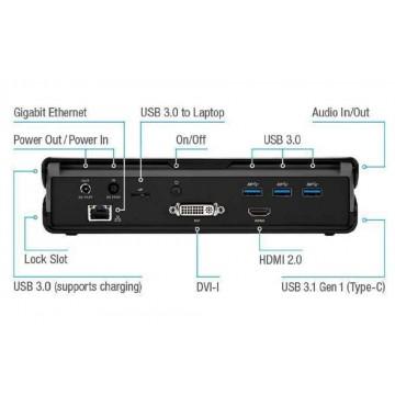 Targus DOCK171 USB 3.0 Universal DVHD Docking Station w/Power