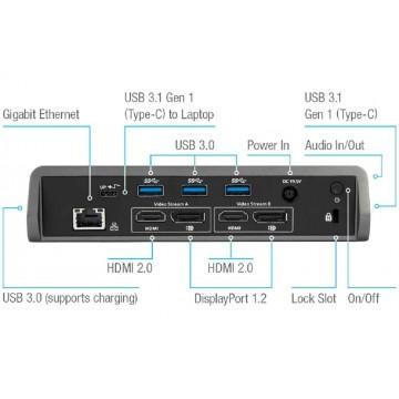 Targus DOCK180 USB-C Universal DV4K Docking Station w/Power