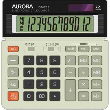 Aurora Desktop Calculator (154 x 154 x 29mm) DT838 12 Digits