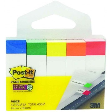 3M Post-it Super Sticky Pagemarkers 700CR-SSN (14 x 50mm)