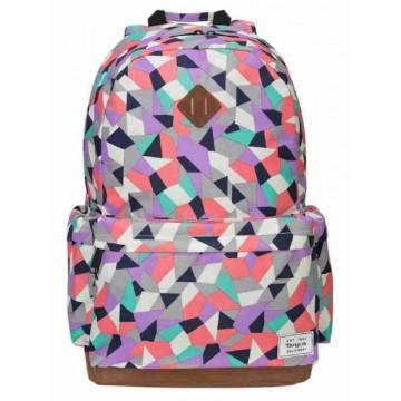 "Targus Strata Geometric-Pattern Laptop Backpack 15.6"""