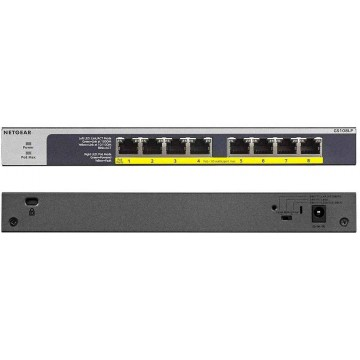 NETGEAR 8-Port PoE/PoE+ Gigabit Ethernet Unmanaged Flexible Switch GS108LP