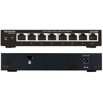 NETGEAR 8-Port Gigabit Ethernet Smart Managed Pro Switch GS308T