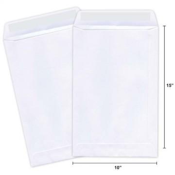 "Plain Envelope B4E (10"" x 15"") Peel & Seal 250'S White"