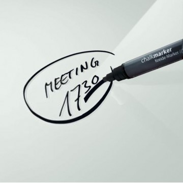 Sigel GL180 Chalk Marker 50 Chisel Tip Black