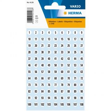 Herma Number Labels (1-540) 8mm