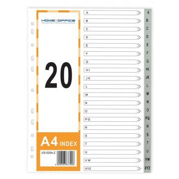 HnO PP Index Divider (A-Z) A4 Grey