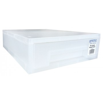 HnO Stackable Single Drawer (360 x 250 x 85mm) Translucent White