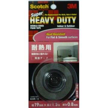 3M Scotch Super Heavy Duty Double-Sided Foam Tape KHR-19 (19mm x 1.5m) Heat Resistant