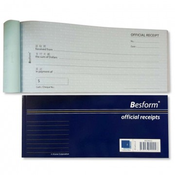 Besform Official Receipts Carbonless (50 Sets x 2)