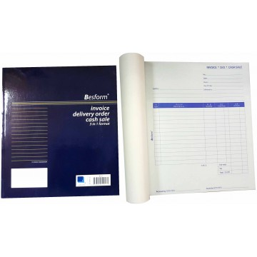 Besform Invoice Delivery Order Cash Sale 3-in-1 Format Carbonless (25 Sets x 3)