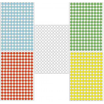 Herma Colour Round Labels 5632'S 8mm
