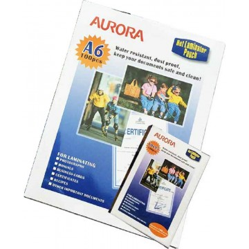 Aurora 100MIC Laminating Pouch 100'S A6