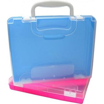 Chunbe Box File Case w/Handle & Pencil Case A4 55mm