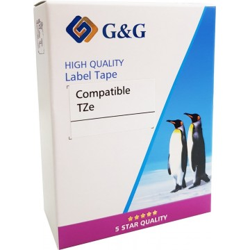G&G Compatible Laminated TZe-Tape 12mm for Brother Label Printer